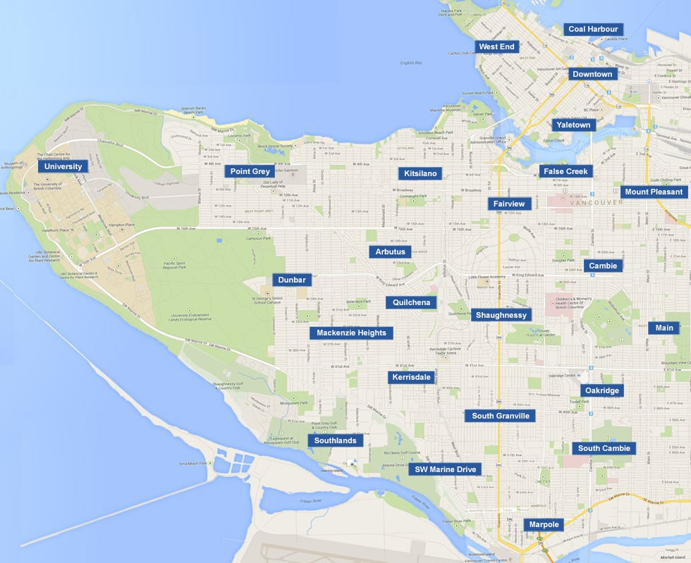 Vancouver Neighbourhood Map