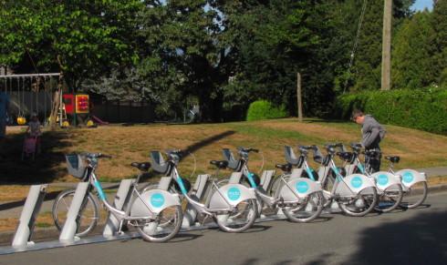 Mobi bike rentals Arbutus Vancouver
