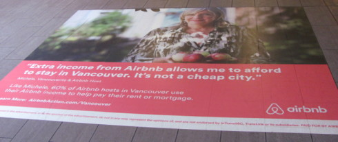 Canada Line Airbnb ad