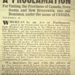 Canada Confederation proclamation